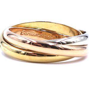 18k Trinity White Gold Size 51 5.5 Ring